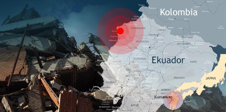 Gempa Sedang Melanda Bumi -- Japan, Ekuador, destroyed in a minuate
